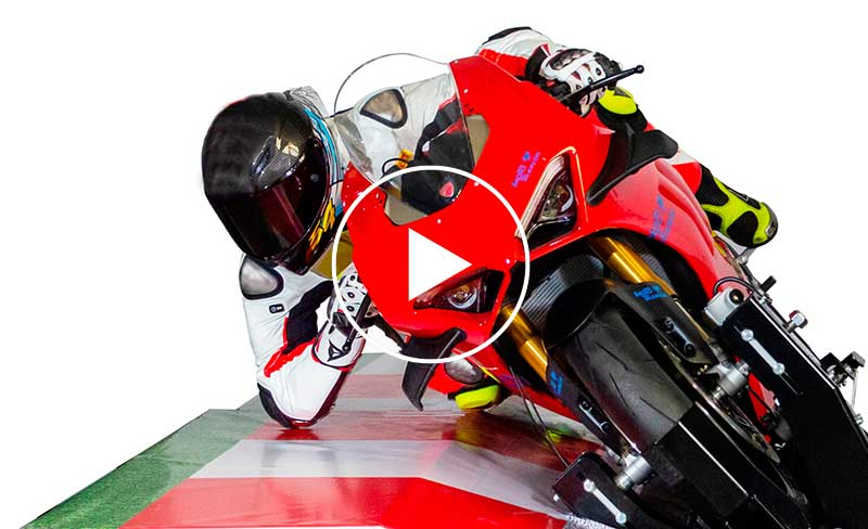 Driver on Moto Trainer simulator